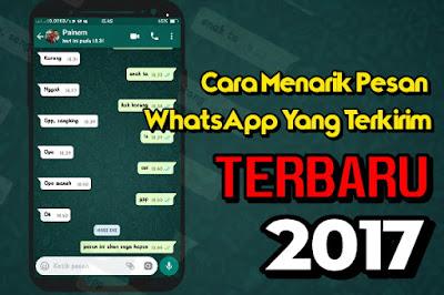 Cara Tarik Pesan di WhatsApp