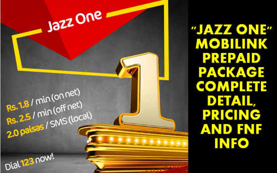 Mobilink Jazz One Prepaid Package Latest Pricing Subscription Detail