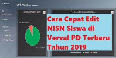 Cara Cepat Edit NISN Siswa di Verval PD Terbaru Tahun 2019