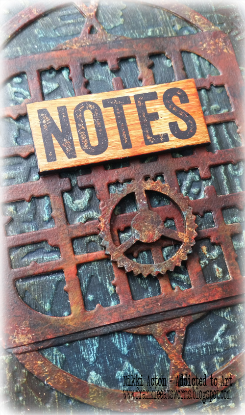 Rusty Altered Notebook - with Seth Apter dies. By Nikki Acton