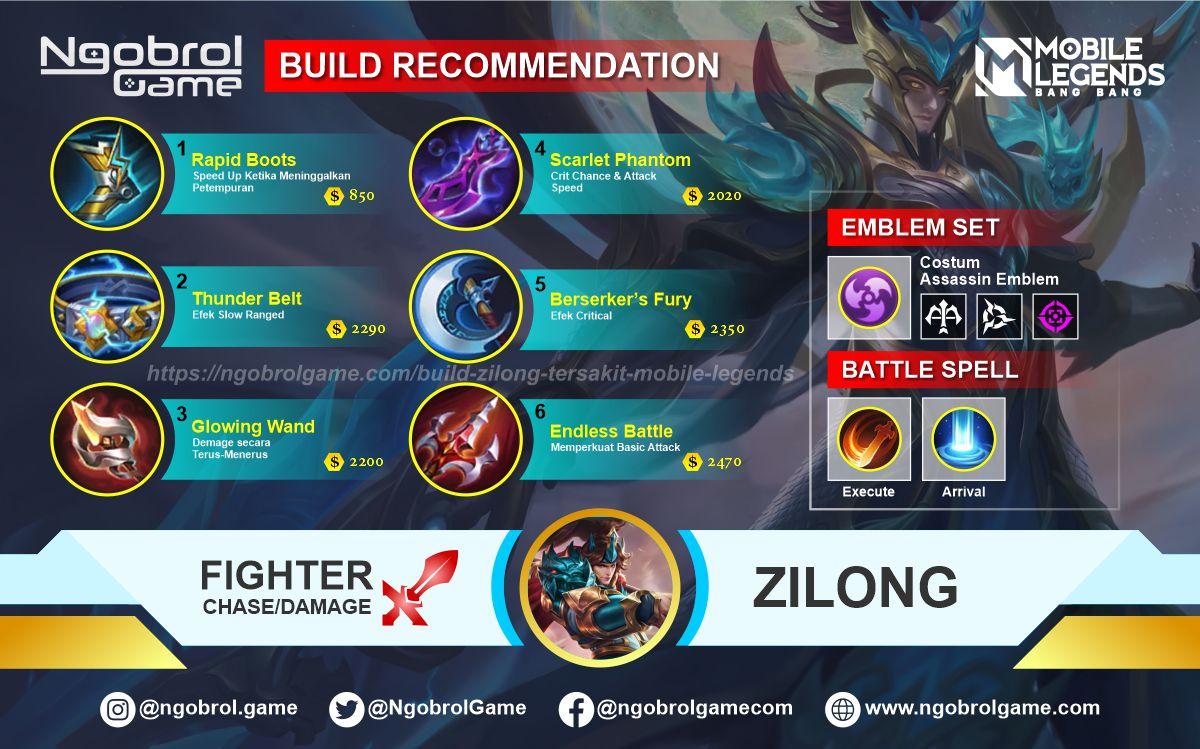 Build Zilong Tersakit 2021 Mobile Legends