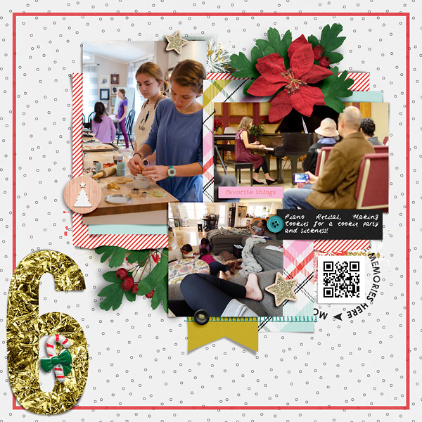 Digital Scrapbook Page DYD Day 6