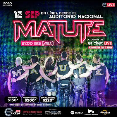 Debido al gran éxito, Matute vuelve a presentarse en el Auditorio Nacional en un show virtual