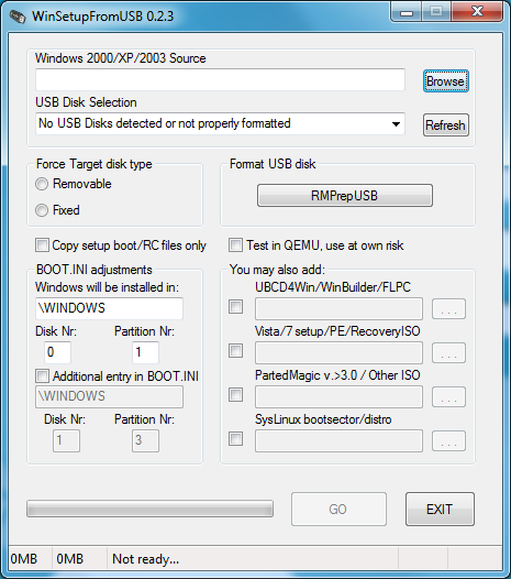 winsetupfromusb WinSetupFromUSB 1.0 Beta 8 / 0.2.3 Download Last Update
