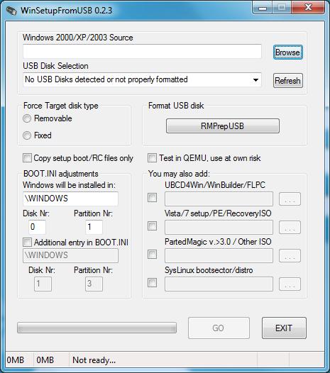 winsetupfromusb WinSetupFromUSB 1.0 Beta 8 / 0.2.3 Download Last Update