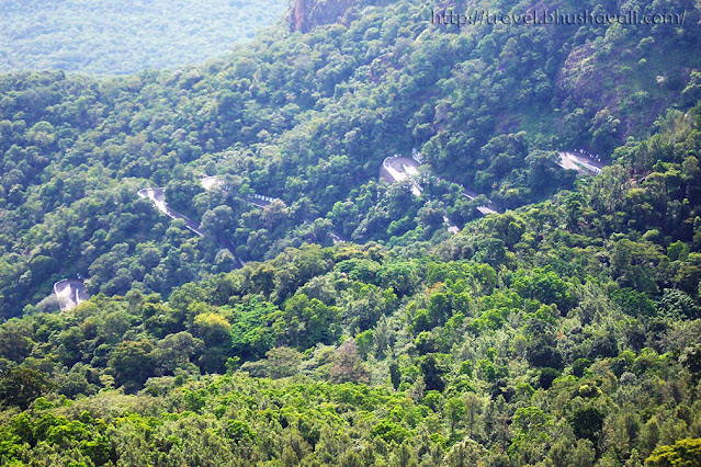 Yercaud hairpin bends on ghat roads