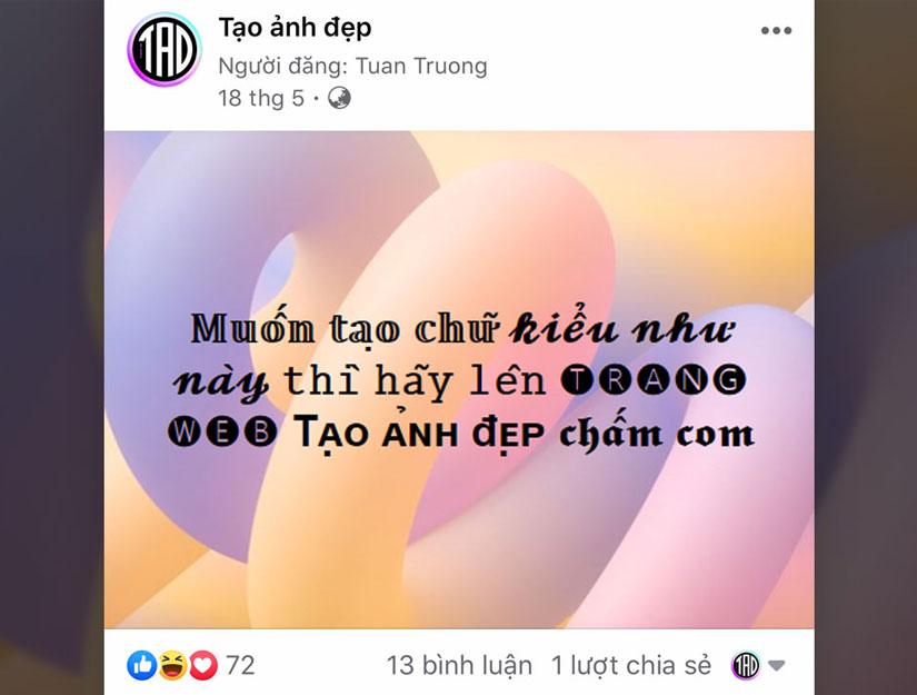 Tạo chữ in đậm in nghiêng trên Facebook, Instagram