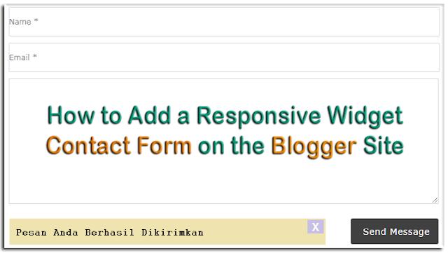 Widget Contact Form Responsive