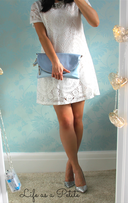 White Lace Crochet Sheinide Amazon Dress