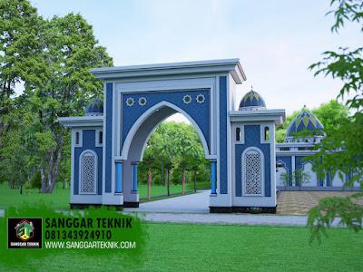 desain gapura masjid