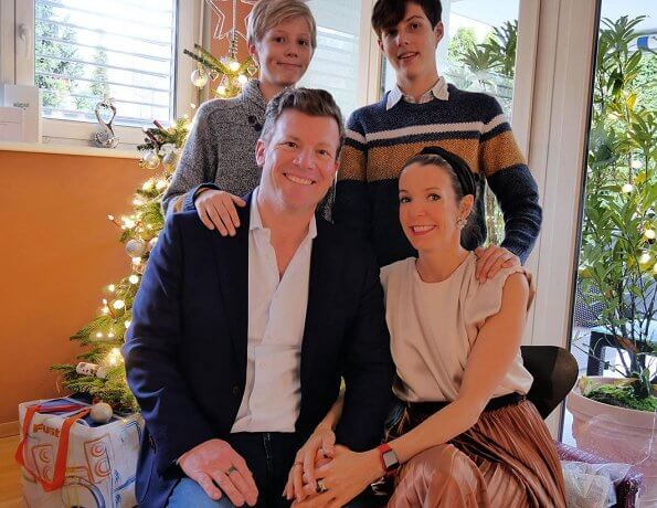Gabriel and Noah. Prince Louis lives in Paris. Grand Duchess Maria Teresa, Hereditary Grand Duchess Stephanie, Prince Charles, Princess Claire