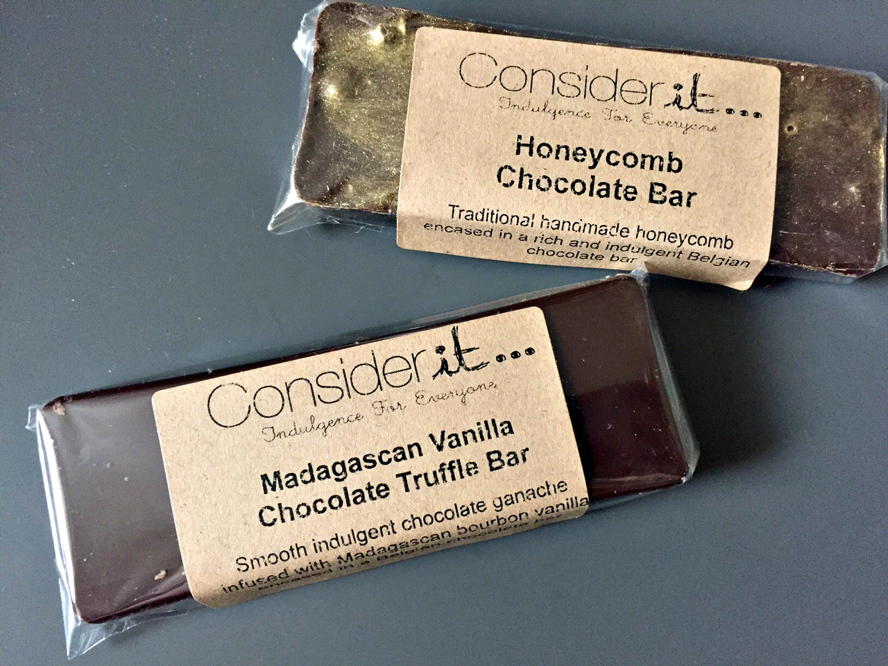 Considerit Madagascan Vanilla Chocolate Truffle Bar & Honeycomb Chocolate Bar