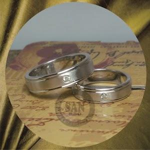 cincin emasputih paladium P5786