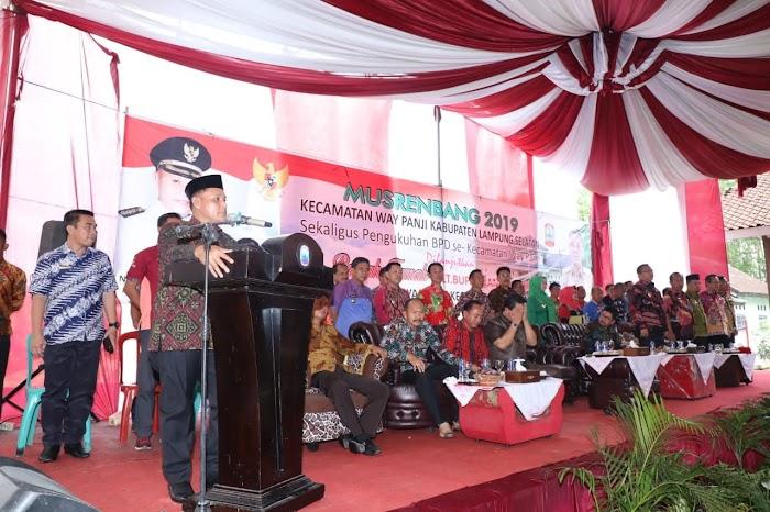Kecamatan Way Panji Dapat Alokasi Anggaran Pembangunan Rp16,7 Miliar di 2019.
