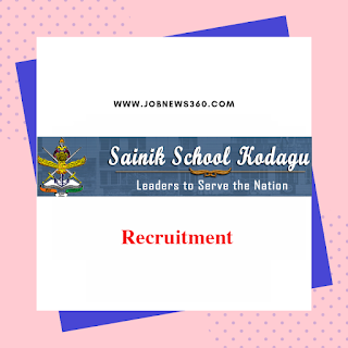 Sainik School Kodagu Recruitment 2019 for TGT, Counsellor & Instructor posts (4 Vacancies)