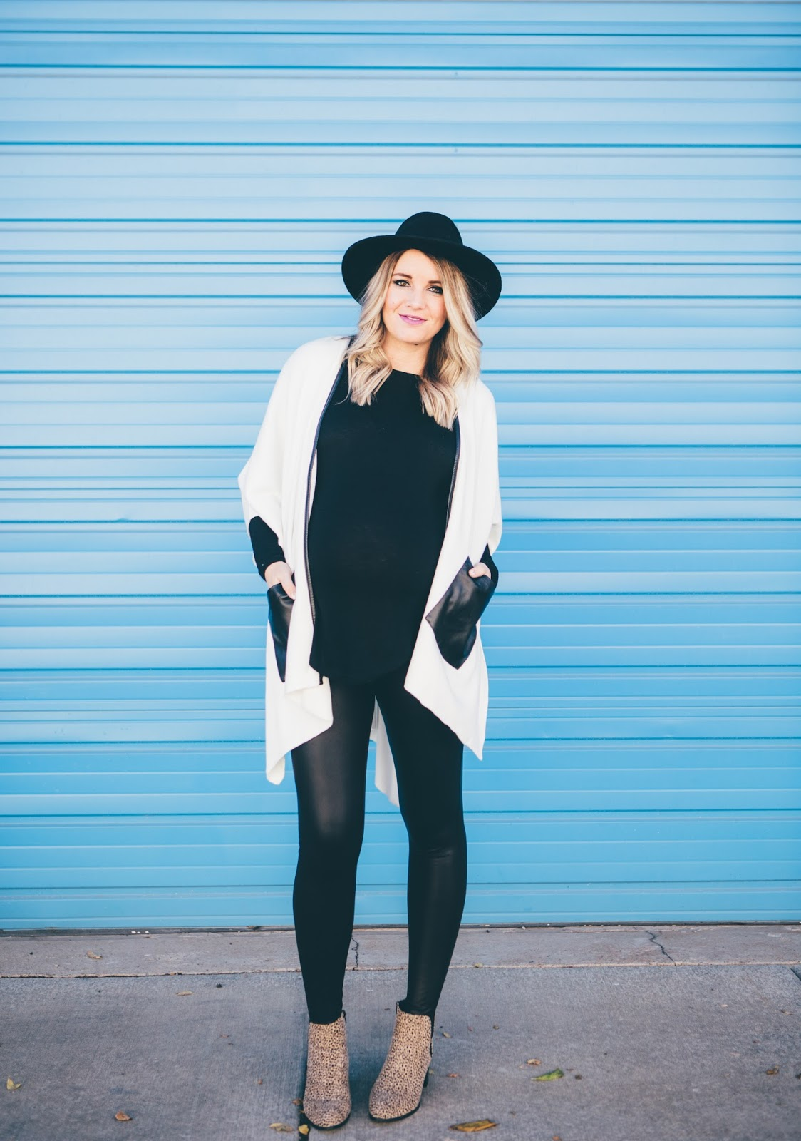 Maternity Outfit, Utah Fashion Blogger, Black and White