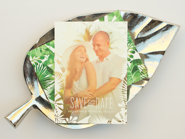 flat print wedding save the dates