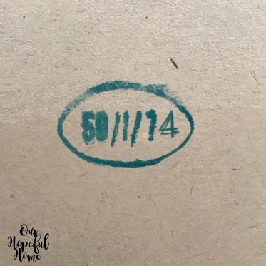 Santa Land ornament box bottom number 1974 manufacture