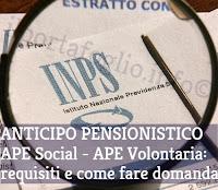Ape social e Ape volontaria per la pensione anticipata