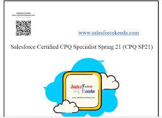Salesforce Certified CPQ Specialist Spring 21 (CPQ SP21) dumps