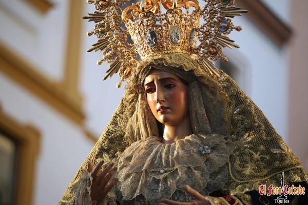 Horario e Itinerario Rosario de la Aurora con María Santísima del Dulce Nombre. Sevilla 03 de Octubre del 2021