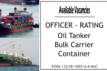 Hiring Crew For Oil Tanker, Bulk Carrier, Container Ships At Top Ever Marine Management