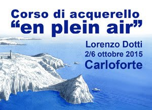 "Carloforte, Corso di Acquerello ""en plein air"""