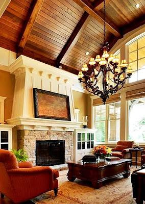 8 Ide Mendekorasi Ruang Keluarga Dengan Atap Yang Tinggi ! - Lampu Gantung