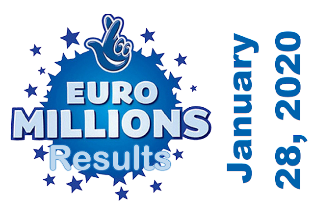 EuroMillions Results for Tuesday, January 28, 2020
