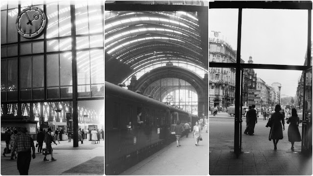 Inside the Frankfurt Main Train Station in the 1950s Through Amazing Black and White Photos