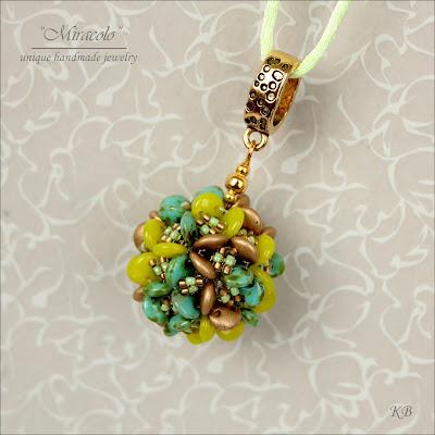 wisiorek z koralikami lentil, lentil beads pendant