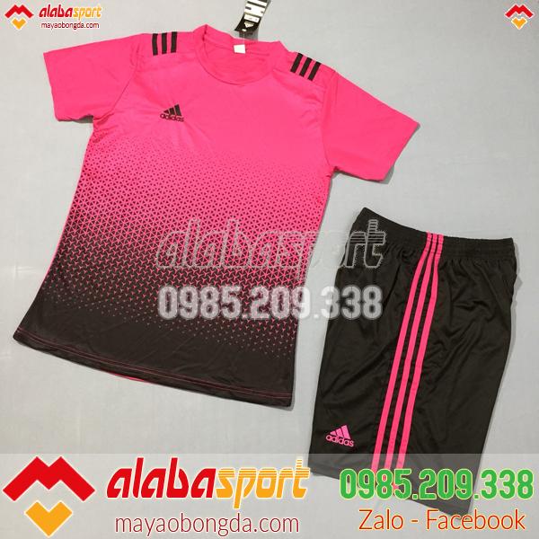 Áo bóng đá không logo 2019 màu hồng đen