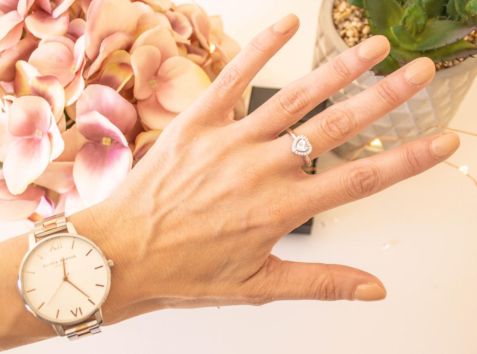 Heart Shaped Diamond Ring From Abelini Jewellery Hatton Garden London