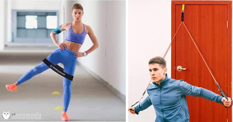 Acessórios baratos para se exercitar em casa.