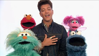 celebrity. Bruno Mars, Elmo, Abby Cadabby, Rosita, Cookie Monster sing Don't Give Up. Sesame Street Episode 4322 Rocco's Playdate season 43