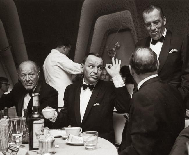 Fank Sinatra giving OK sign