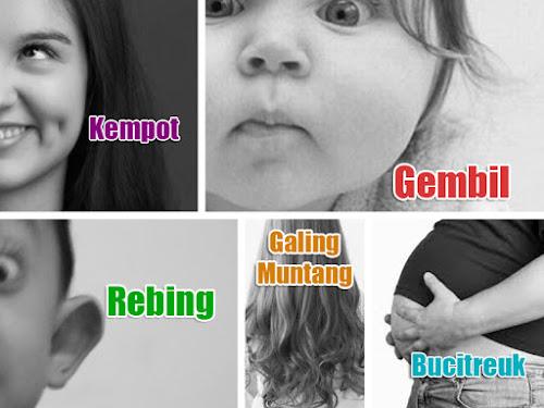 Istilah kondisi badan manusia bahasa Sunda