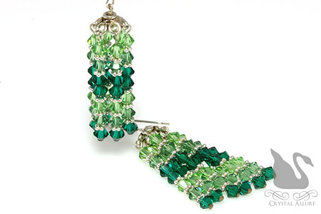 Emerald Swarovski Crystal Chandelier Earrings (E072)