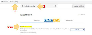 Step 1 - Cara Meningkatkan Kecepatan Download Google Chrome Menyamai IDM