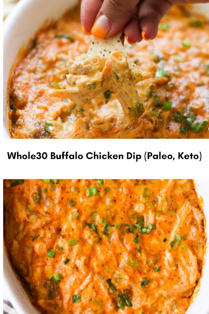 Whole30 Buffalo Chicken Dip (Paleo, Keto)