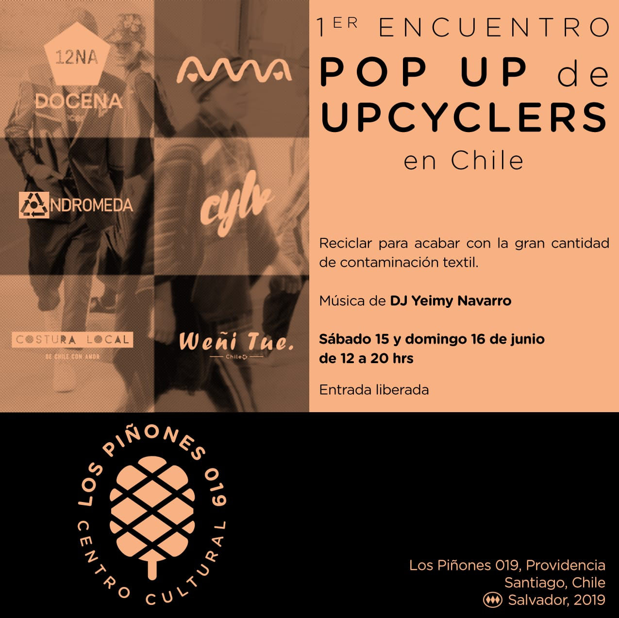 Invitación UPCY primer pop up de upcyclers en Chile