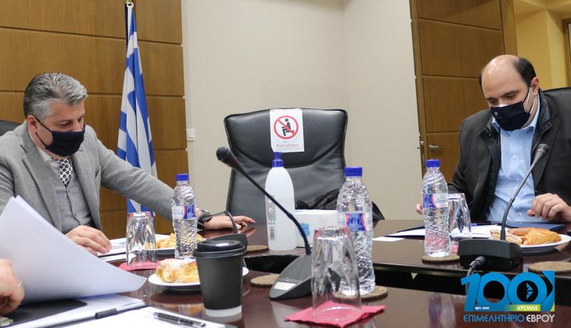 Το Επιμελητήριο Έβρου επισκέφθηκε ο Γενικός Γραμματέας Οικονομικής Πολιτικής Χρήστος Τριαντόπουλος