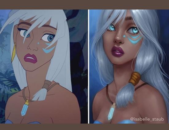 Personagens Desenhos Isabelle Staub - Princesa Kida, de Atlantis