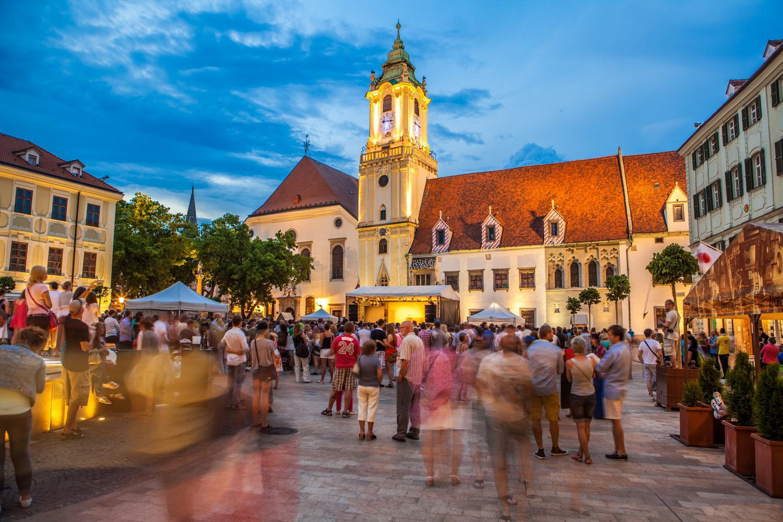 Пешеходная часть Старого города Братиславы