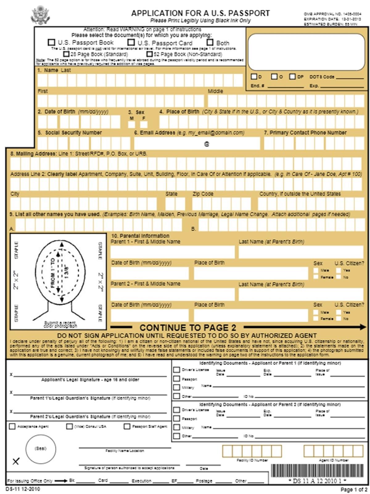 Pasaporte Renovacion Americano