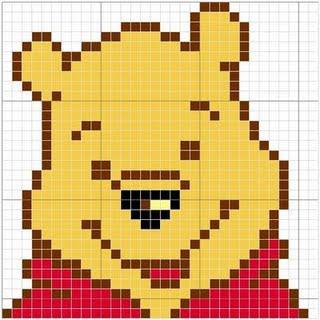 Cantinho da jana gr ficos de ponto cruz do ursinho pooh for Punto croce disney winnie the pooh