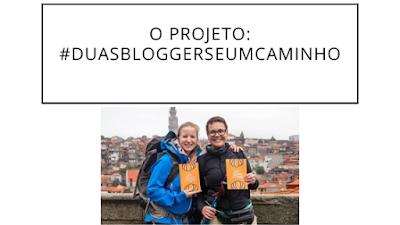 Duas peregrinas do Caminho de Santiago na cidade do Porto