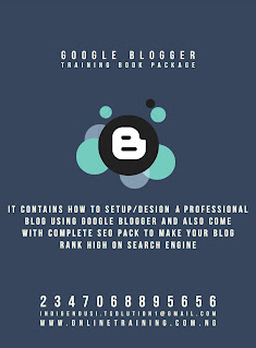 Professional Blog Designing Training Using Google Blogger