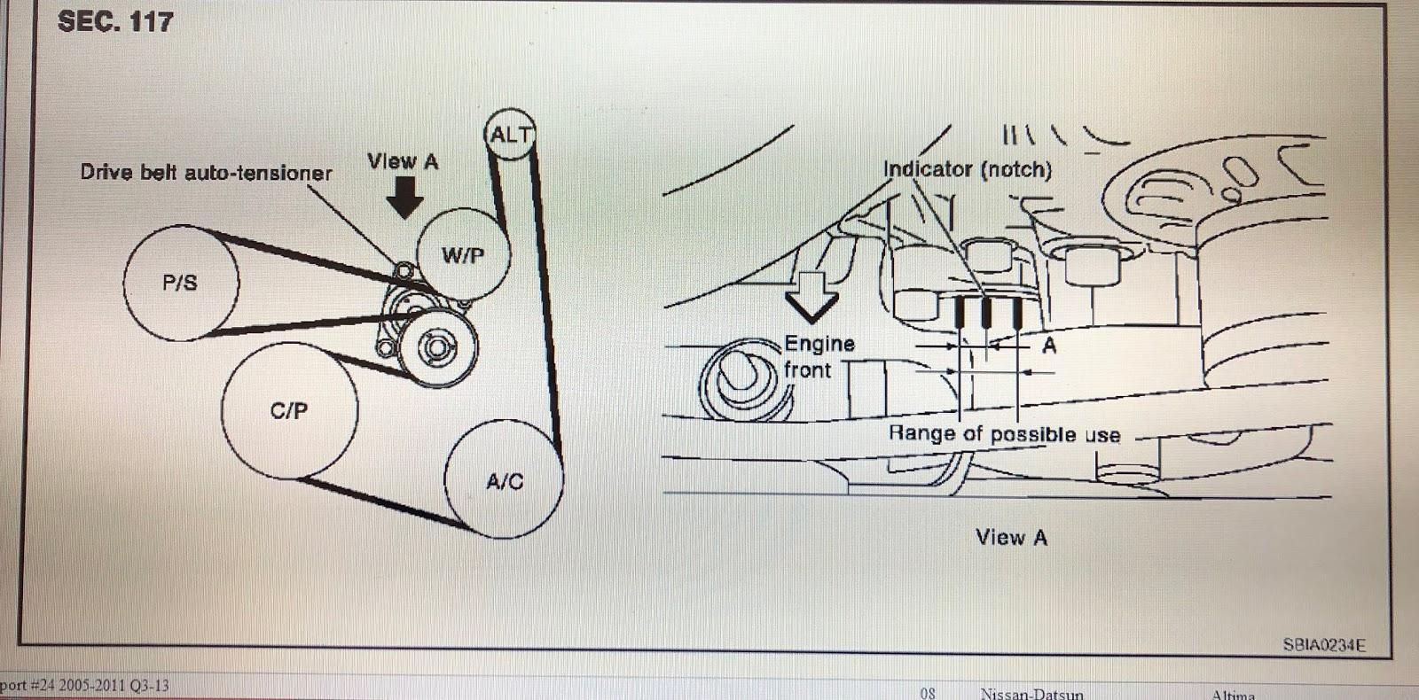 Fix It Angel Diy Auto Maintenance Care 2007 2012 Nissan Altima 2 5l 4 Cylinders Engine Drivebelt Diagram