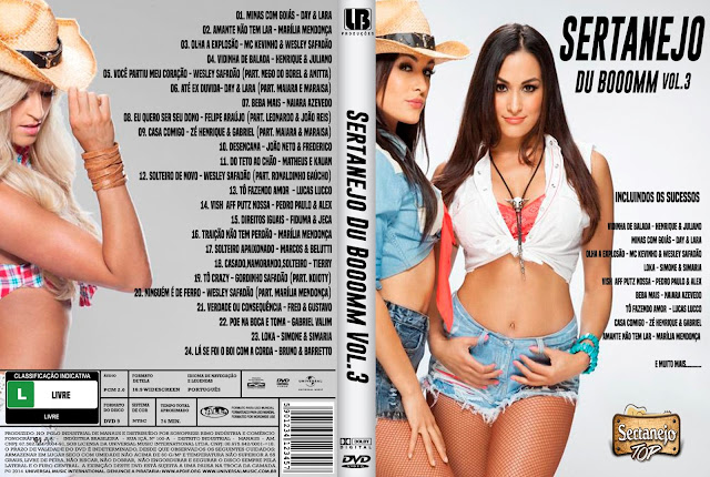 Capa DVD Sertanejo Du Booomm Vol 3